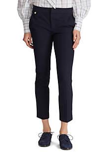 Lauren Ralph Lauren Cotton Twill Skinny Pants