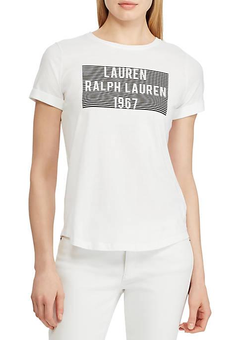 Lauren Ralph Lauren Logo Cotton Tee Graphic