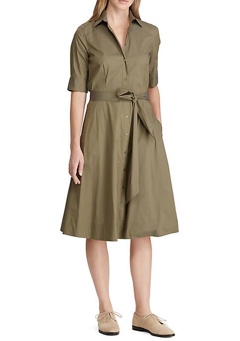 Lauren Ralph Lauren Cotton Blend Shirtdress