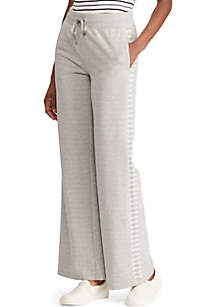 Lauren Ralph Lauren Stripe Trim French Terry Sweatpants
