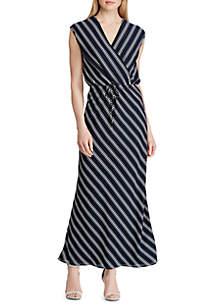 Lauren Ralph Lauren Striped Georgette Maxi Dress