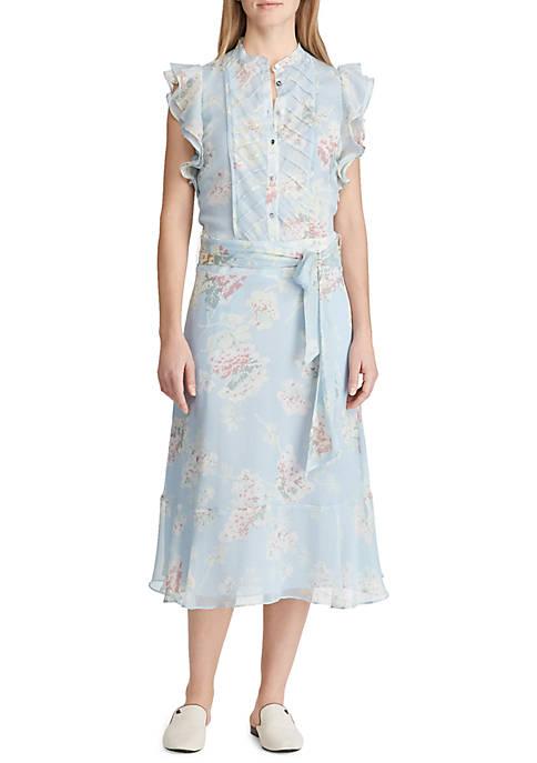 Lauren Ralph Lauren Janerva Tie Waist Floral Dress