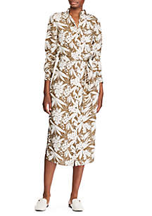 Lauren Ralph Lauren Buttoned Crepe Shirtdress