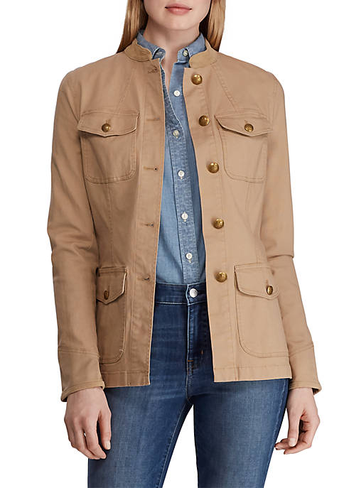 Military Look Canvas Jacket