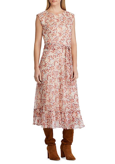 Lauren Ralph Lauren Floral Print Georgette Dress
