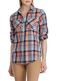 Lauren Ralph Lauren Rimnan Long Sleeve Plaid Shirt