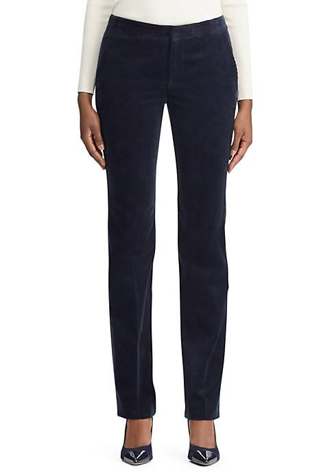 Lauren Ralph Lauren Corduroy Straight Leg Pants
