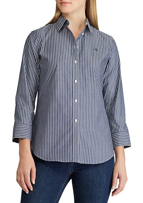 Lauren Ralph Lauren Gwenno 3/4 Sleeve Stripe Shirt
