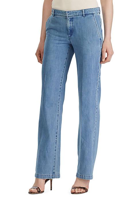 Lauren Ralph Lauren Denim Wide Leg Pants