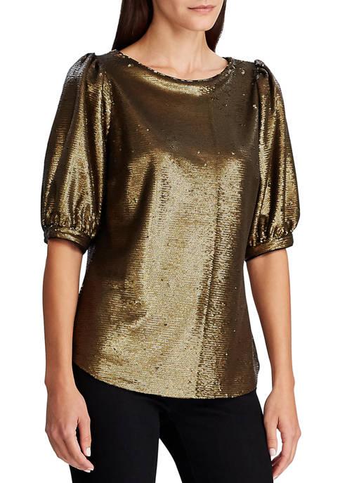 Lauren Ralph Lauren Metallic Sequined Shirt