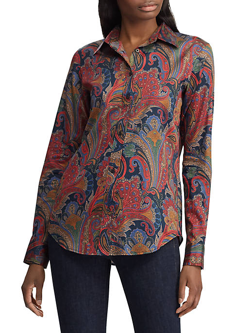 Lauren Ralph Lauren Paisley Button-Down Shirt