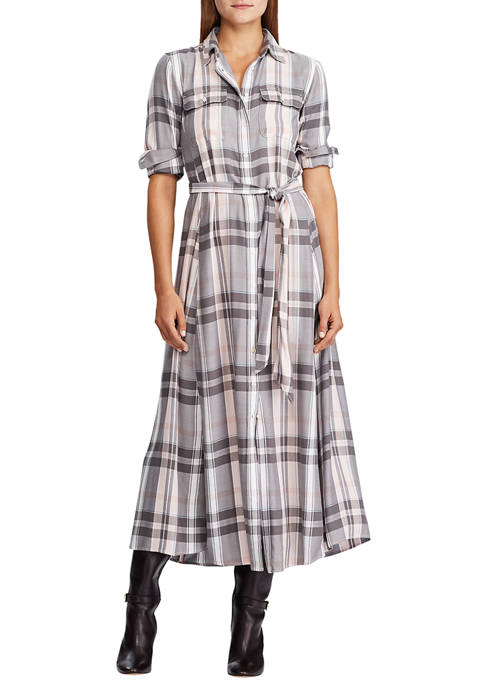 Lauren Ralph Lauren Plaid Long-Sleeve Dress