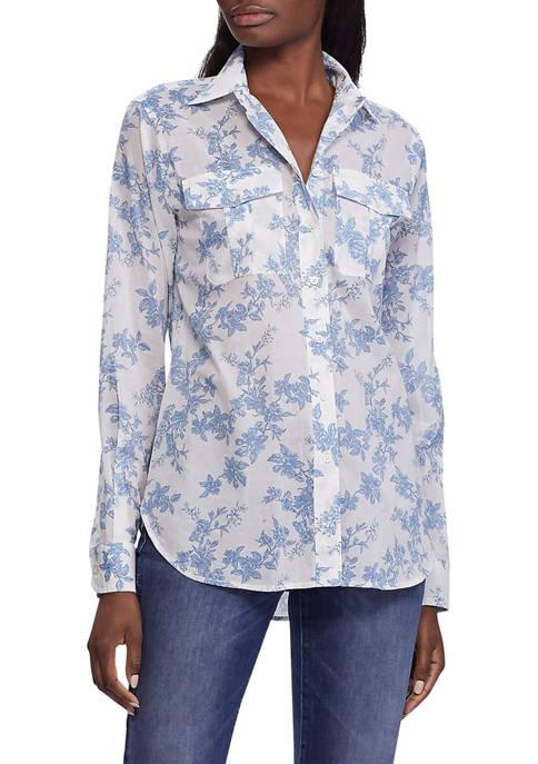 Lauren Ralph Lauren Floral Print Cotton Shirt