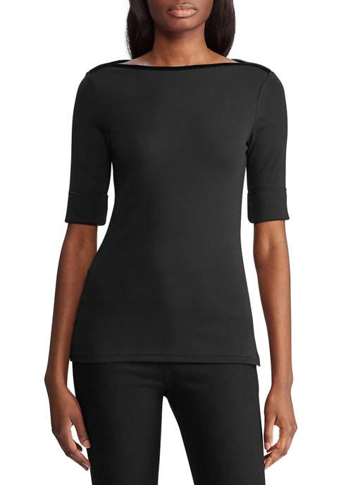 Lauren Ralph Lauren Elbow Length Sleeve Top