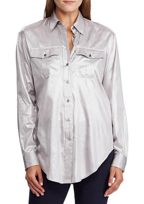 Lauren Ralph Lauren Metallic Patch Pocket Shirt