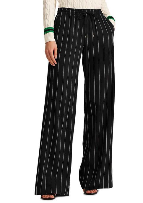 Lauren Ralph Lauren Pinstripe Wide-Leg Pants