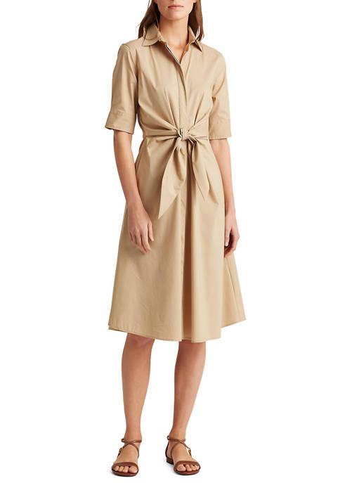 Lauren Ralph Lauren Cotton-Blend Shirtdress
