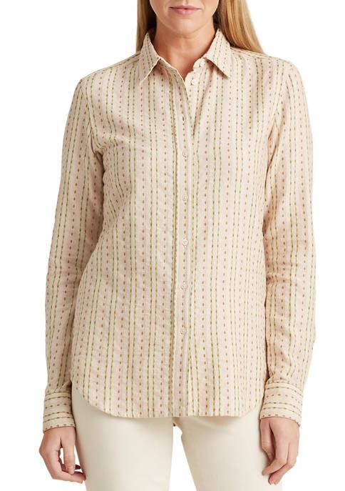 Lauren Ralph Lauren Floral Striped Jacquard Shirt