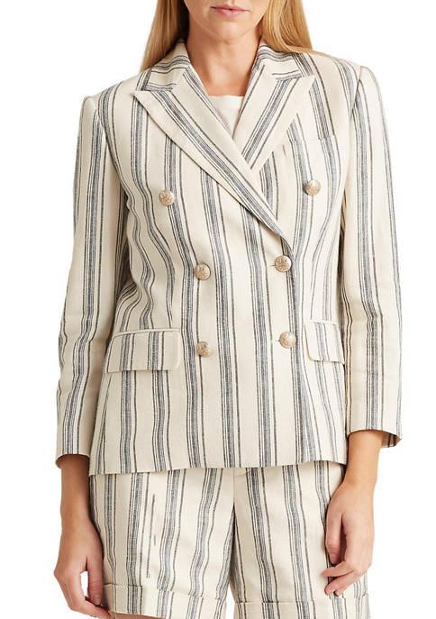 Lauren Ralph Lauren Striped Linen Twill Blazer