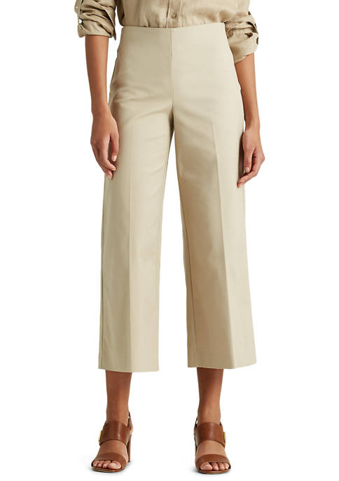 Lauren Ralph Lauren Cotton Wide-Leg Pant