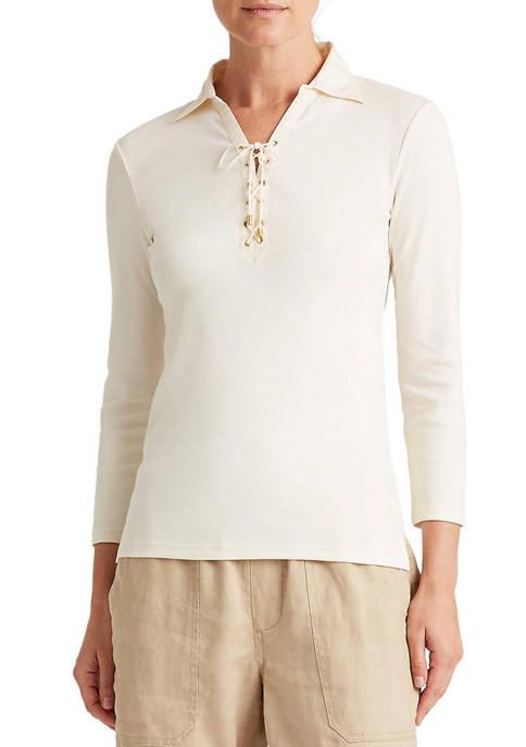 Lauren Ralph Lauren Cotton-Twill Lace-Up Shirt