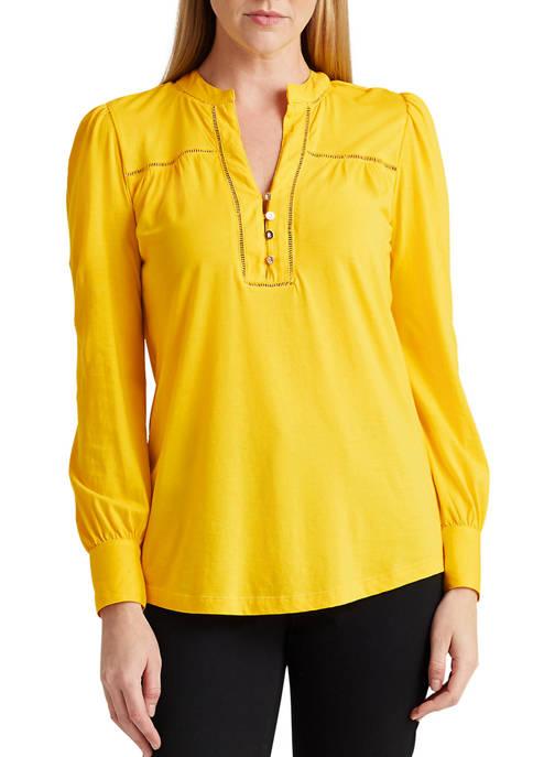 Lauren Ralph Lauren Cotton Jersey Top