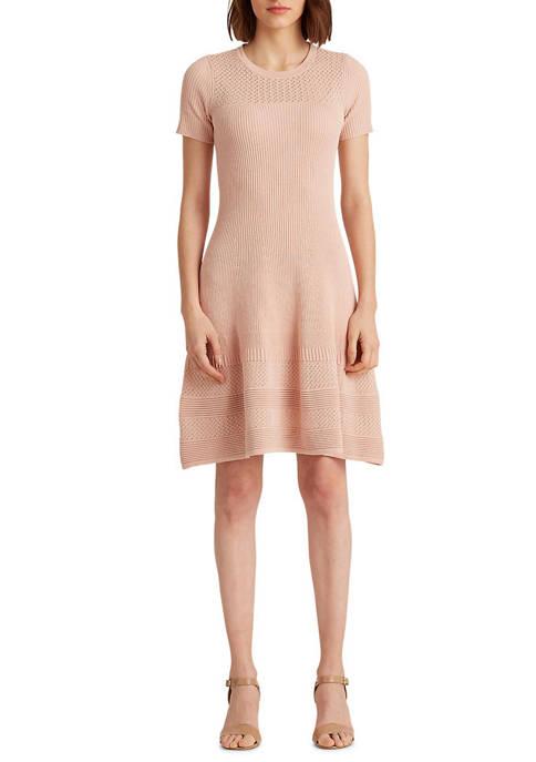 Lauren Ralph Lauren Linen Blend Short Sleeve Dress