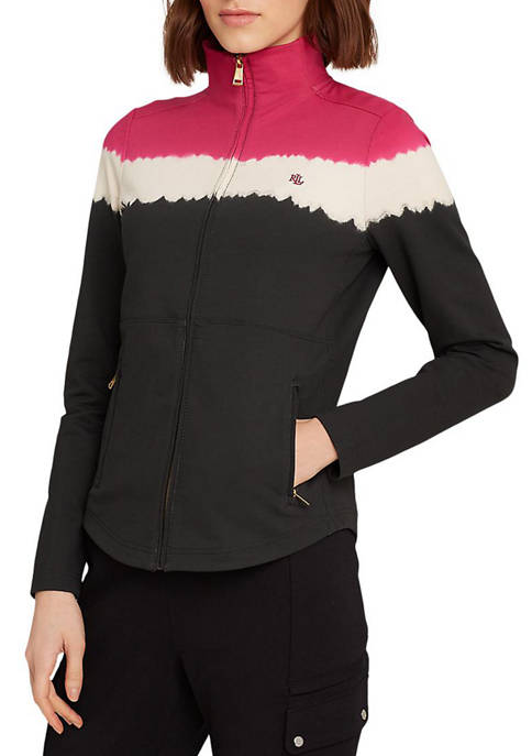 Lauren Ralph Lauren Cotton-Blend Mockneck Jacket