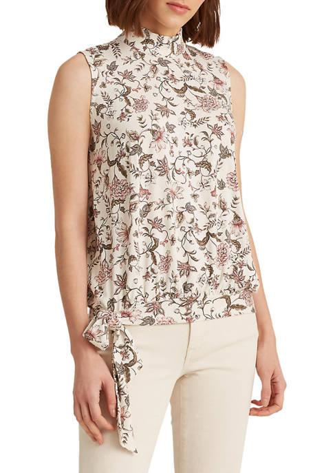 Lauren Ralph Lauren Floral Jersey Sleeveless Top