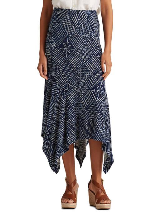 Lauren Ralph Lauren Print Asymmetrical Skirt
