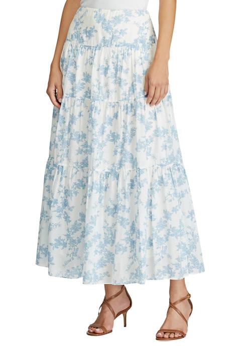 Lauren Ralph Lauren Floral Tiered Georgette Skirt