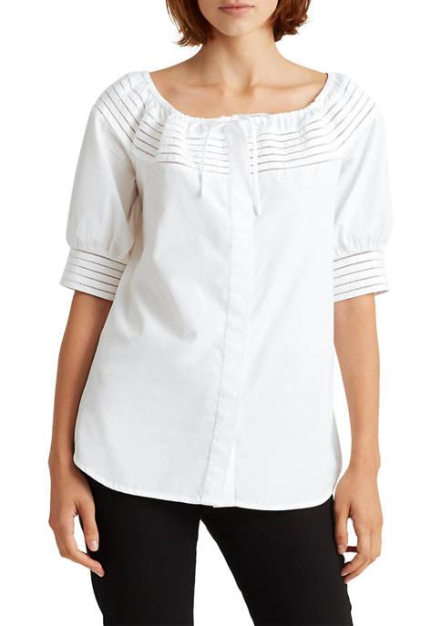 Lauren Ralph Lauren Off-the-Shoulder Cotton Top