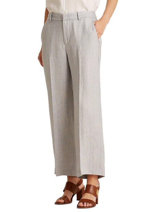 Lauren Ralph Lauren Herringbone Wide-Leg Pant