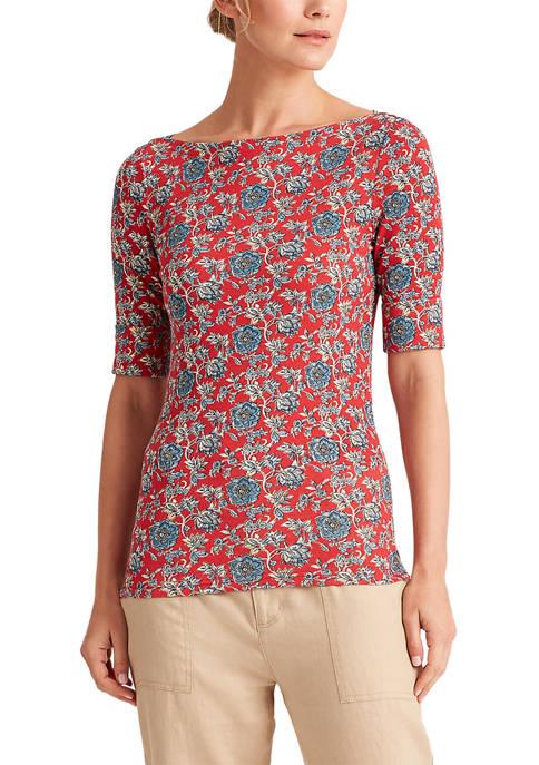 Lauren Ralph Lauren Floral Cotton-Blend Top