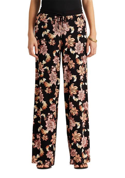 Lauren Ralph Lauren Print Jersey Wide Leg Pants