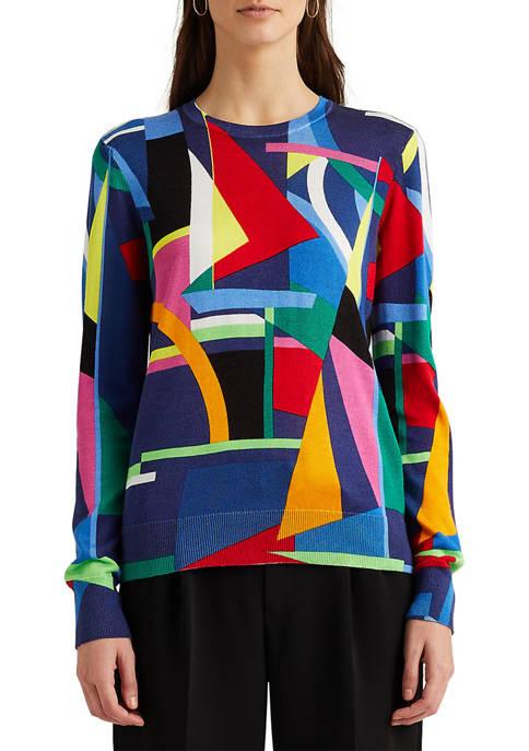 Lauren Ralph Lauren Printed Cotton-Blend Sweater