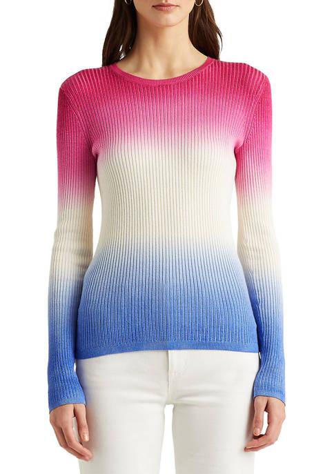 Lauren Ralph Lauren Dip-Dyed Ribbed Sweater