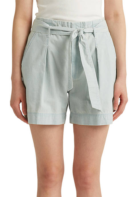 Lauren Ralph Lauren Cotton Chambray Shorts