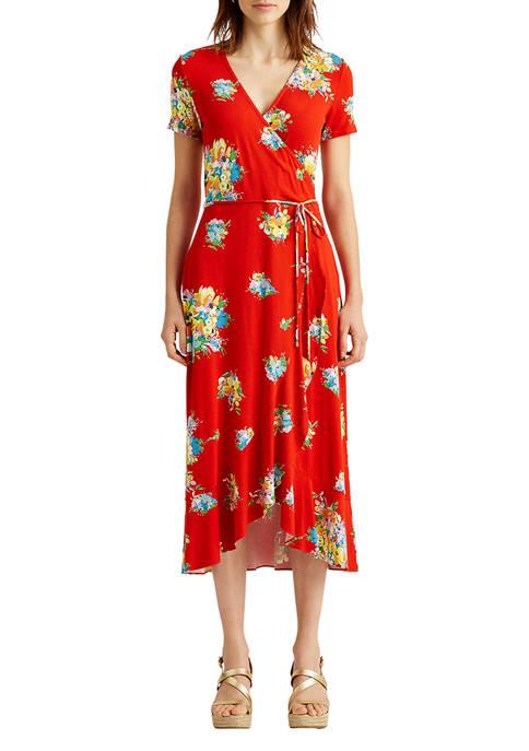 Floral Stretch Jersey Dress