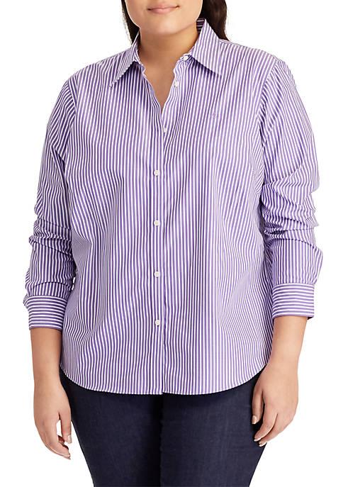 Lauren Ralph Lauren Plus Size Aaron Long Sleeve