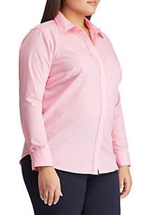 Plus Size No-Iron Button-Down Shirt