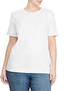 Plus Size Monogram Cotton T-Shirt