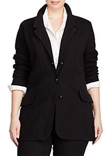 Plus Size Cotton Sweater Blazer