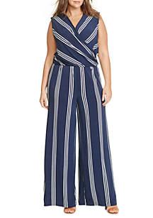 d3a01c2f66d Lauren Ralph Lauren. Lauren Ralph Lauren Plus Size Striped Jersey Jumpsuit
