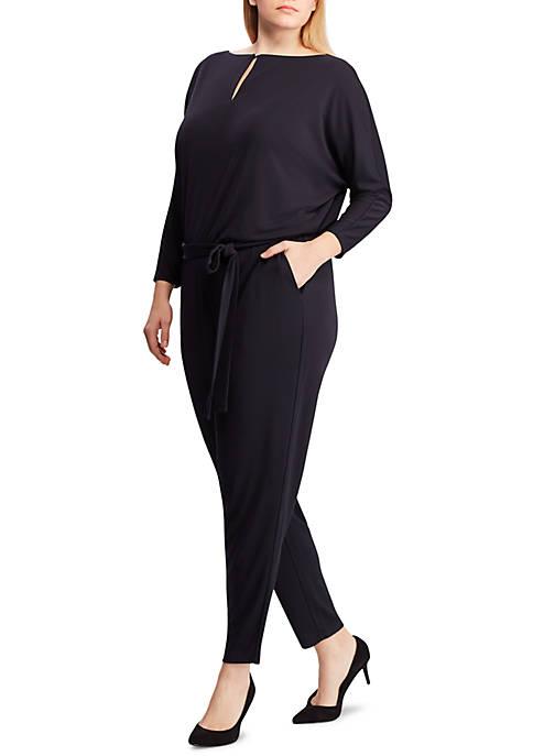 Lauren Ralph Lauren Plus Size Jersey Keyhole Jumpsuit