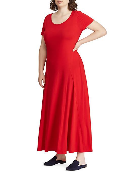 Lauren Ralph Lauren Plus Size Jersey T-Shirt Maxidress
