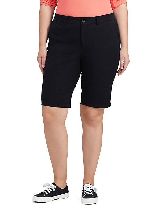 Lauren Ralph Lauren Plus Size Stretch Cotton Short