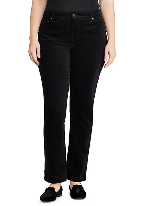Lauren Ralph Lauren Plus Size Premier Straight Corduroy