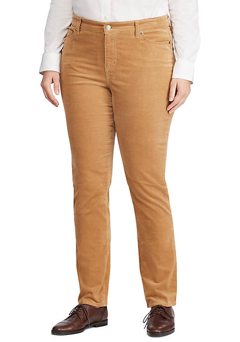 Plus Size Straight Skinny Pants