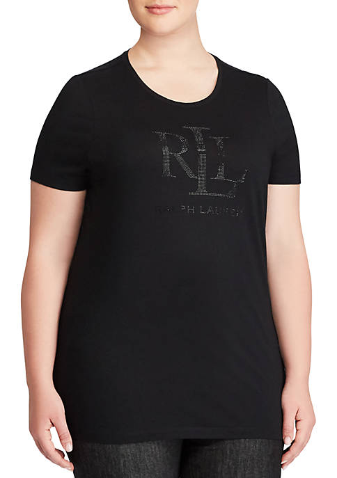 Lauren Ralph Lauren Plus Size Katlin Studded Jersey